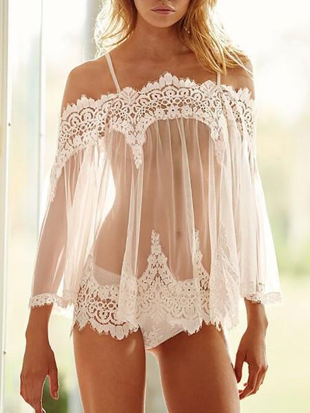 Women Sexy High Waist Hollow Panties Underwear.  11.99. Off Shoulder Eyelash  Lace Trim Babydoll Lingerie ... c71d94df2