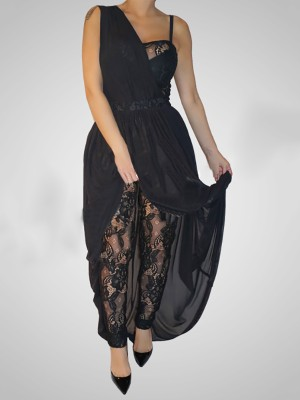 Stylish Two Piece Lace One Shoulder Dress