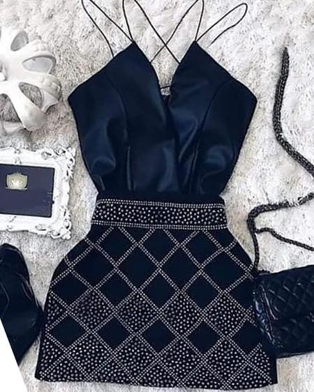 Dots Print Spaghetti Strap Mini Dress
