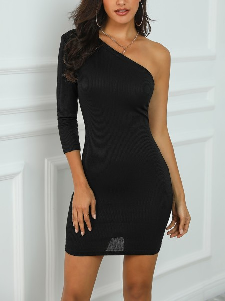 One Sleeve Bodycon Dress