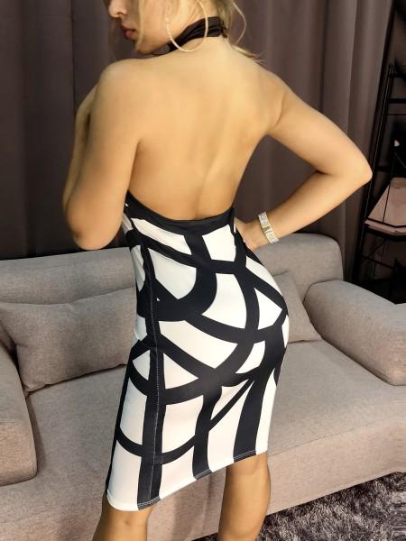 Halter Bandage Backless Bodycon Dress
