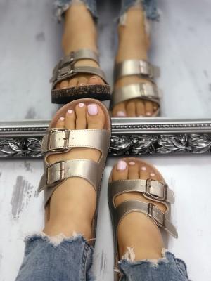 Double Buckle Open Toe Non-Slip Sandals