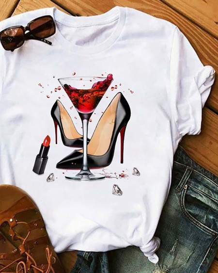 Graphic Print Short Sleeve Casual T-Shirt
