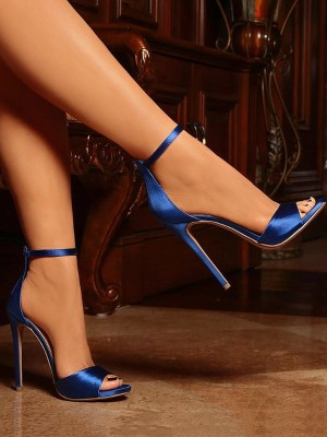 Sexy Open Toe Strap Anklet Heeled Sandals