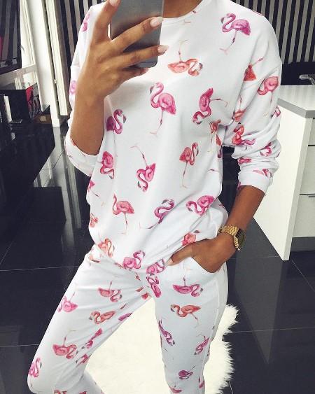 Long Sleeve Print Top & Pants Set