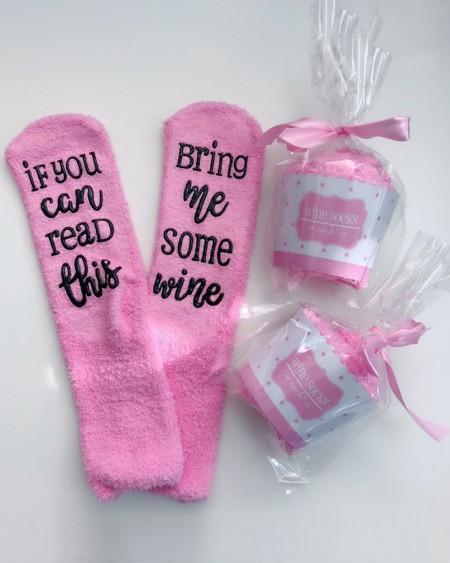 Funny Letter Print Crew Socks