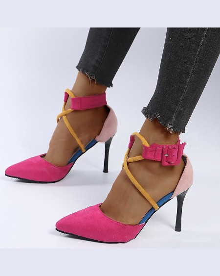 Solid Colorblock Pointed-toe High Heel Sandals