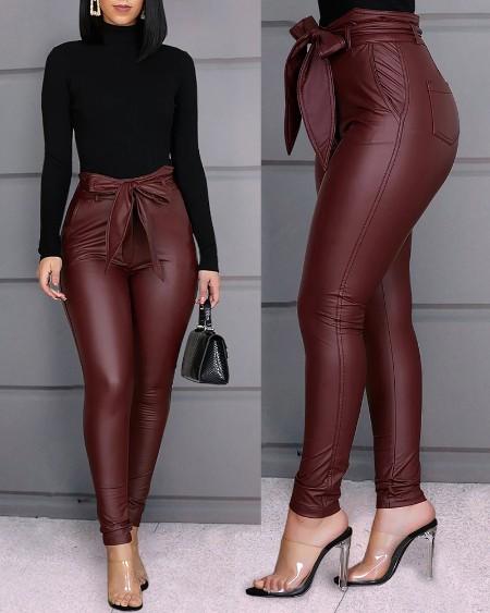 Sexy PU Pants
