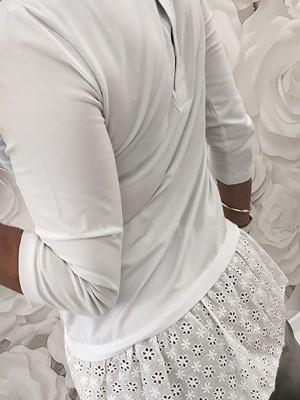 Hollow Out Panel Hem Long Sleeve T-Shirt