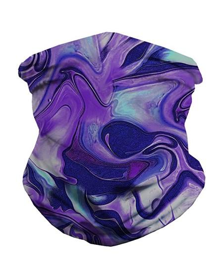 Purple Fusion FaceBandana Magic Scarf Headwrap Balaclava