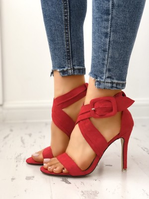 Sexy Crisscross Solid Color Cocktail Party Sandals
