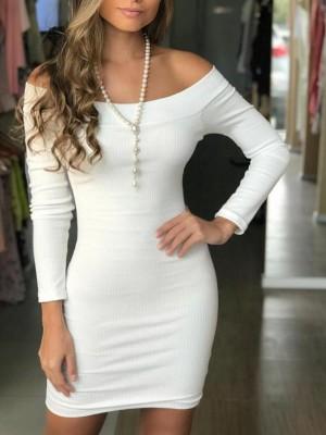 Stylish Ruched Wrap Bodycon Plunge Dress