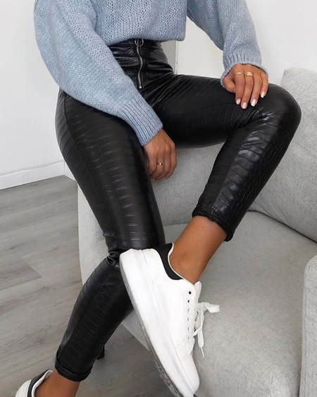 Faux Leather High Waist Pant