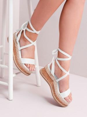 Crisscross Strappy Espadrille Platform Sandals