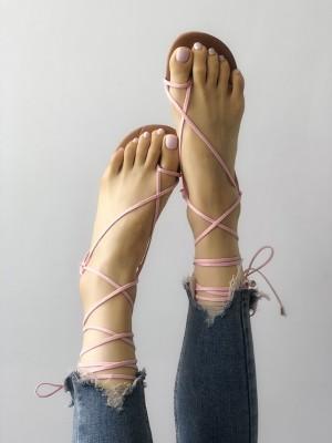 Stylish Strappy Toe Ring Gladiator Sandals