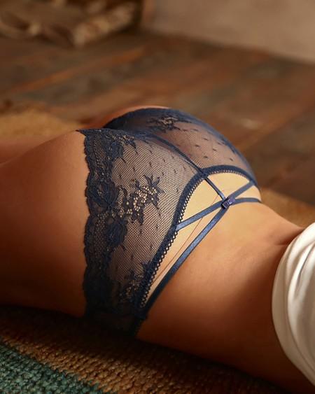 Crocheht Lace Back Bandage Cutout Panty