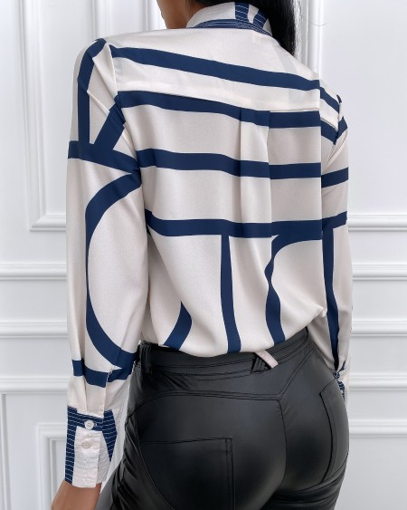Striped Long Sleeve Casual Shirt