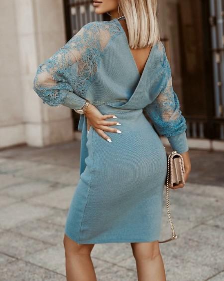 Crochet Lace Knit Casual Dress