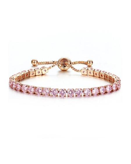 Rhinestone Adjustable Chain Bracelet