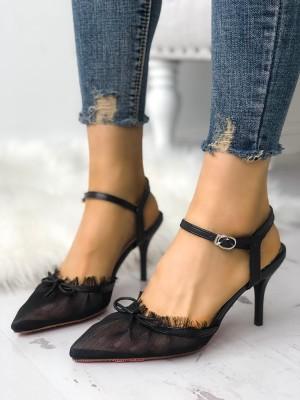 Mesh Pointed Toe Stiletto Heels