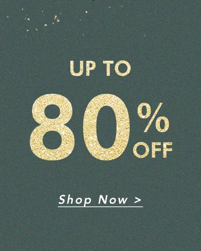 Up to 80%off