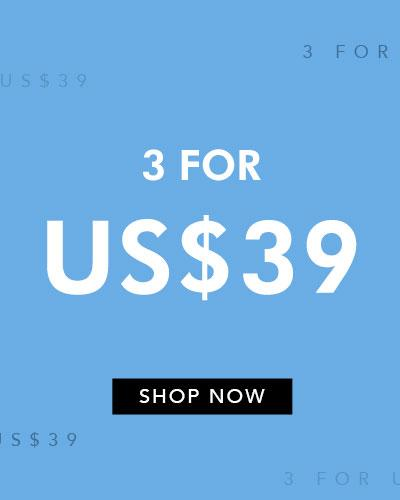 3 For US$39