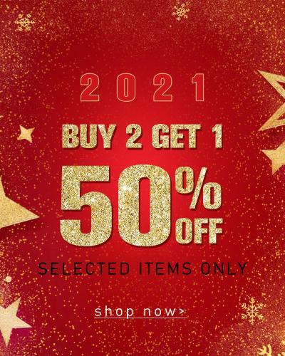 Buy 2 Get 1 50% Off