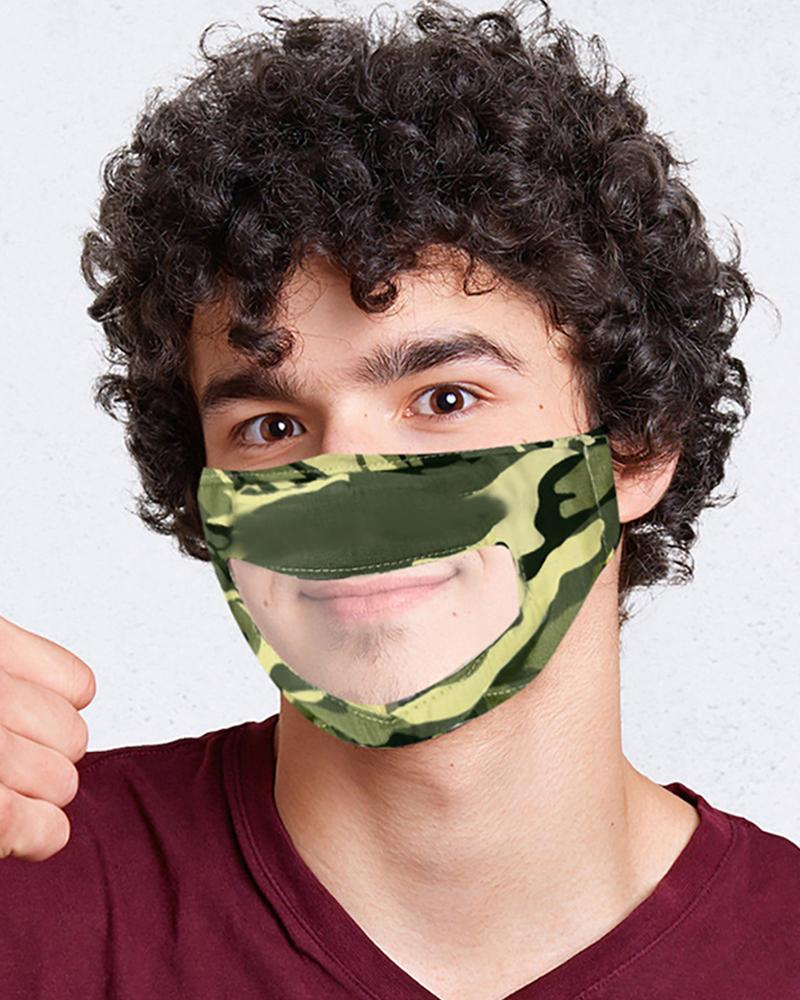 Breathable Face Mask With Clear Window Visible Expression Lip Reading thumbnail