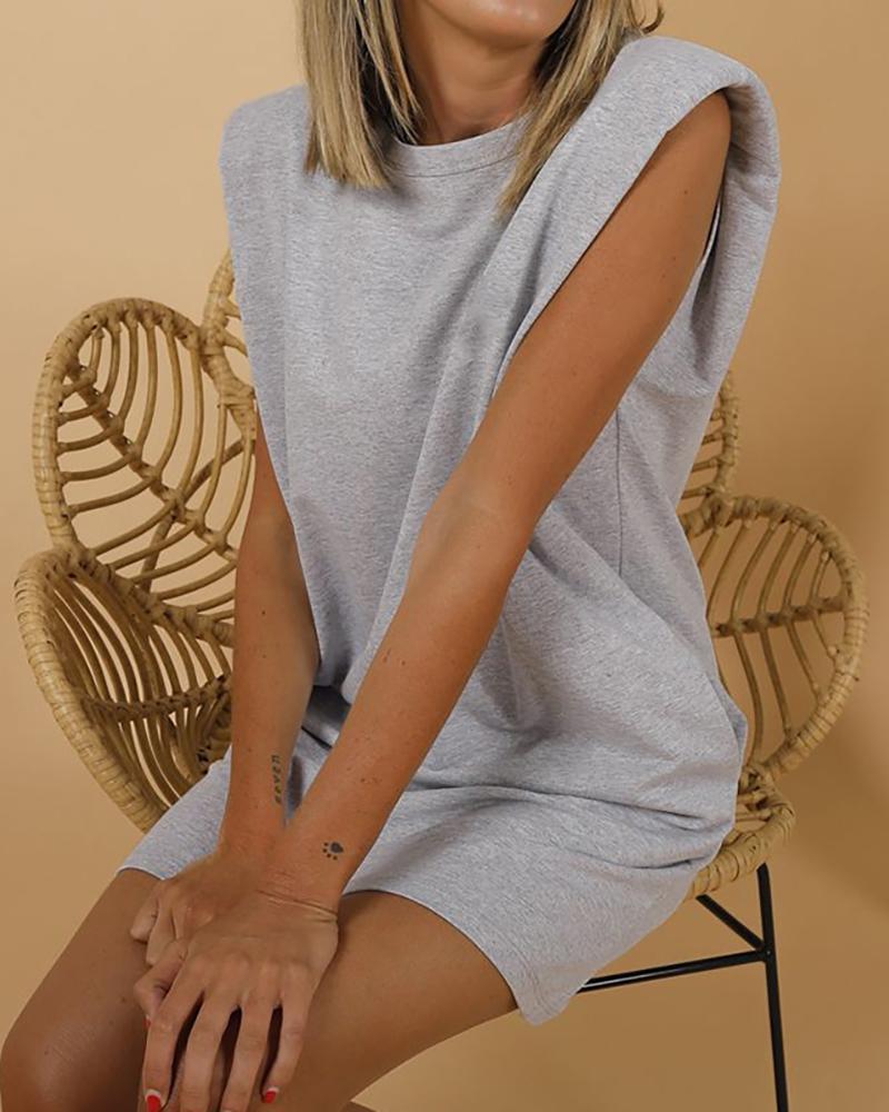 Sleeveless Pocket Design Casual Dress thumbnail