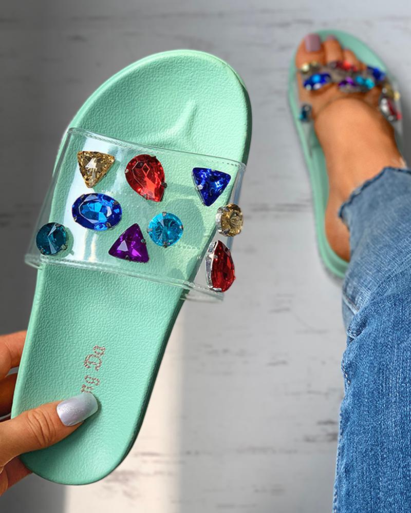 Studded Open Toe Platform Sandals thumbnail
