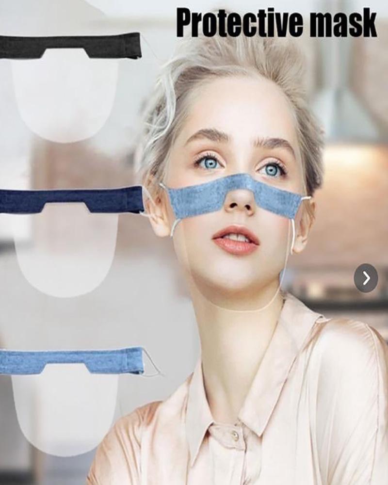 Solid Visible Nose Bridge Face Mask thumbnail