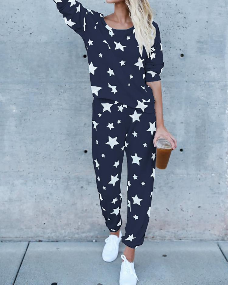 Fashion Star Print Casual Pantsuit thumbnail
