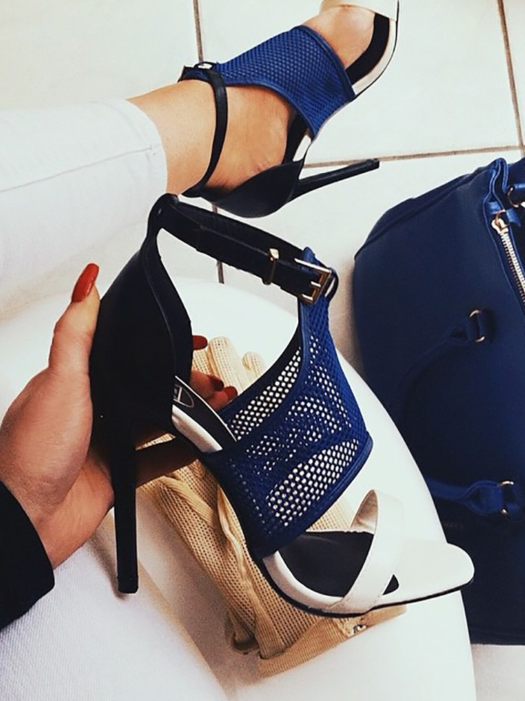 Sexy Open Toe Thin Heeled Sandals