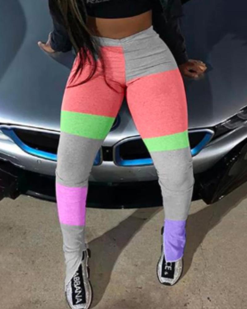 Colorblock Slit Detail Active Pants thumbnail