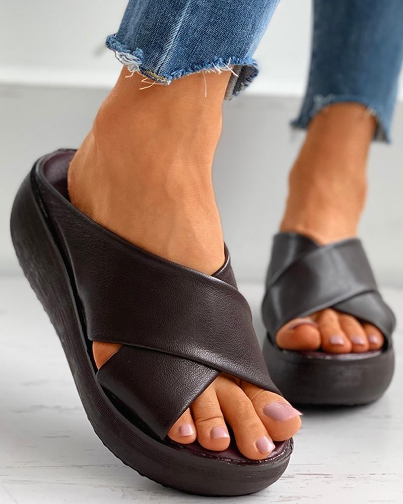 Bandage Peep ToeWedge Sandals