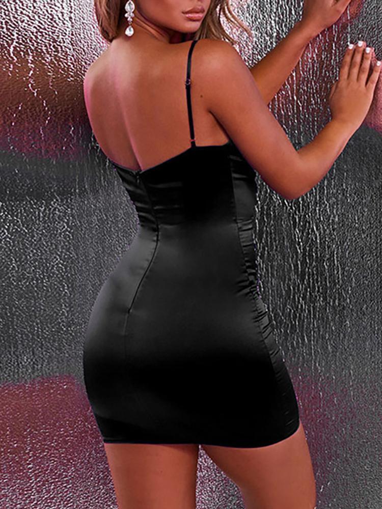boutiquefeel / Spaghetti Strap Cut Out Bodycon Dress