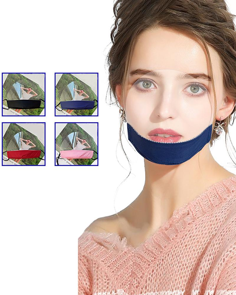 Mouth Clear Window Visible Face Mask thumbnail