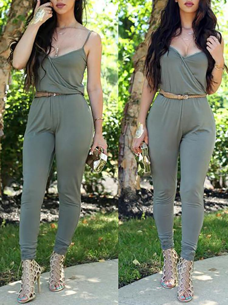 18e1f2587656 Women Sexy Ruched Slim Jumpsuit Online. Discover hottest trend fashion at  chicme.com