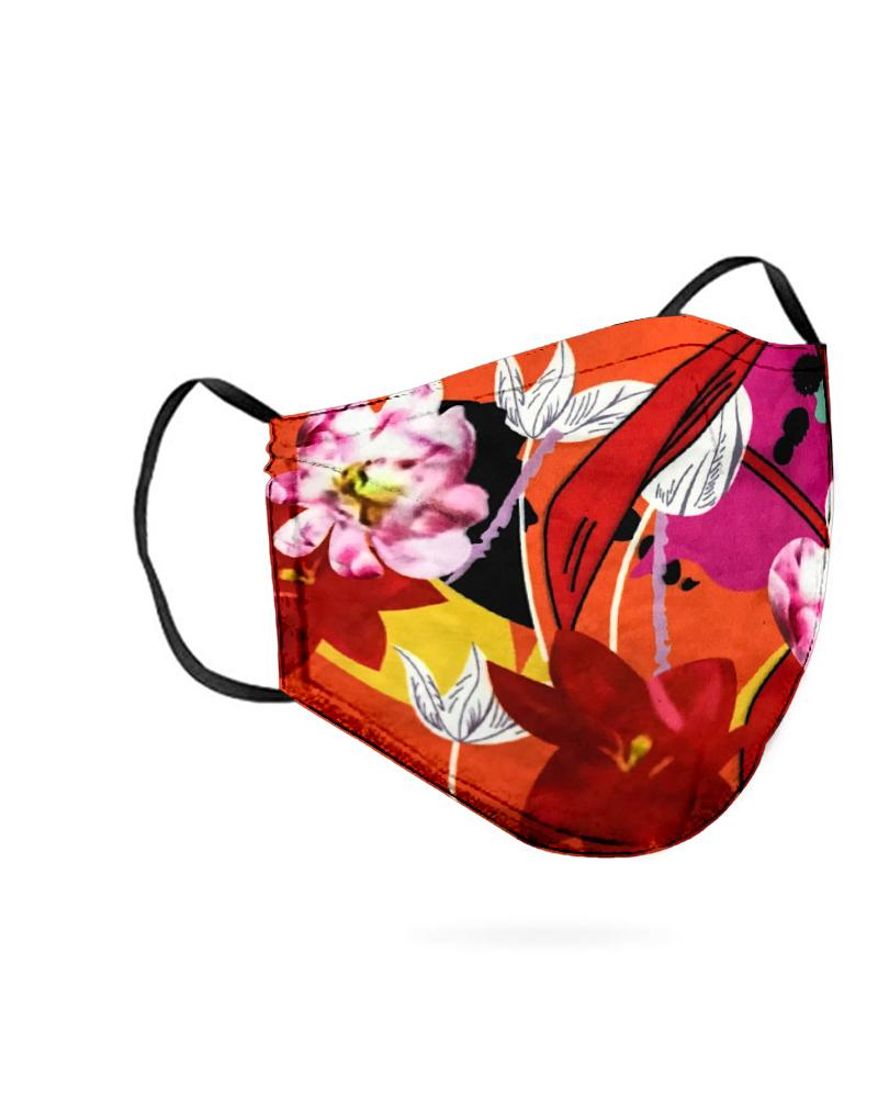 Floral Print Breathable Mouth M .a. s. k Washable And Reusable thumbnail