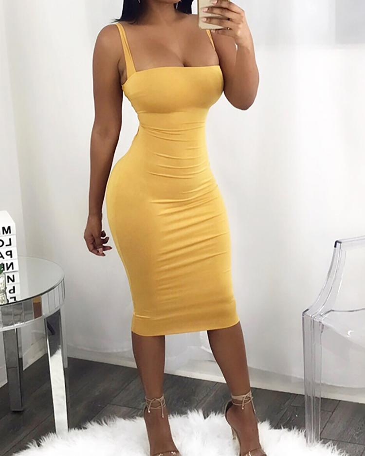 f58cca34febe Sexy Bandage Strappy Back Bodycon Dress