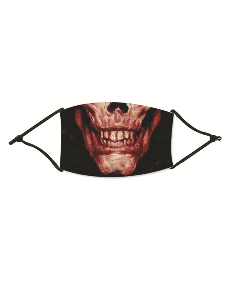 Halloween Ghost Print Washable Reusable Cotton Face Mask thumbnail