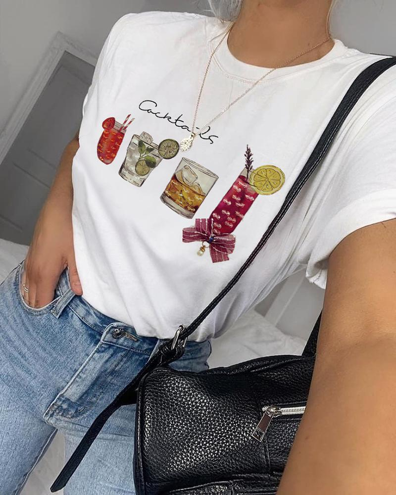 Studded Round Neck Casual T-shirt thumbnail
