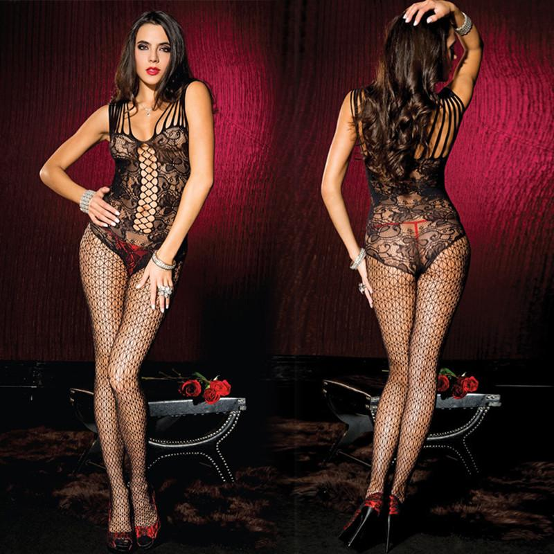 f98d82ac0b8 Hot Fashion New Sexy Lingerie Jumpsuit Bodystocking Body Suit Fishnet Black  Lingerie