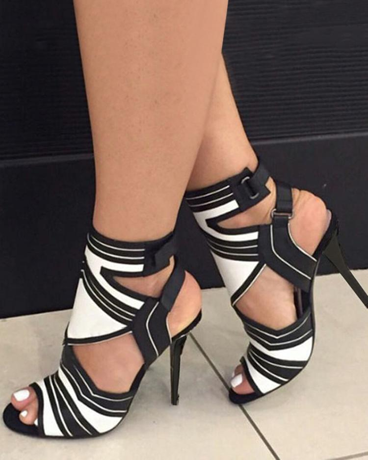 Joyshoetique coupon: Cut Out Strappy High-heel Sandals
