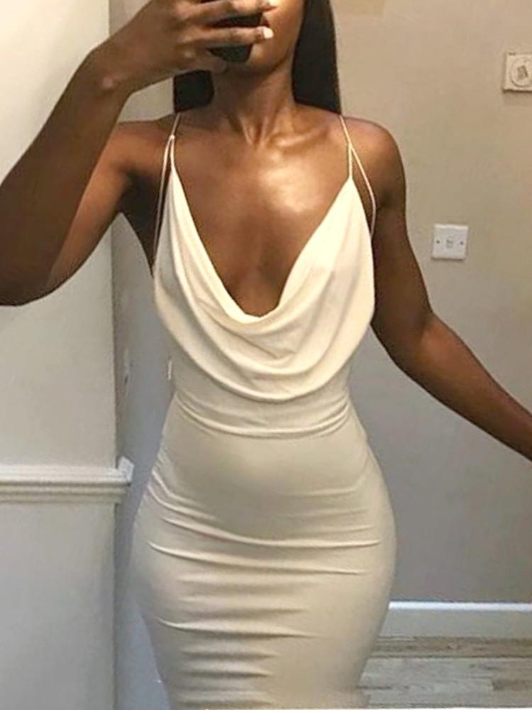 Sexy cowl neck