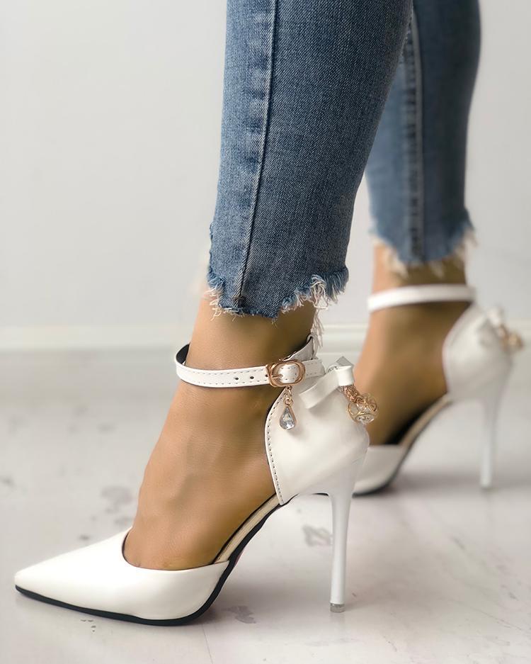 Ladies Block Heel Ankle Strap Sandals Strappy Chunky Peep