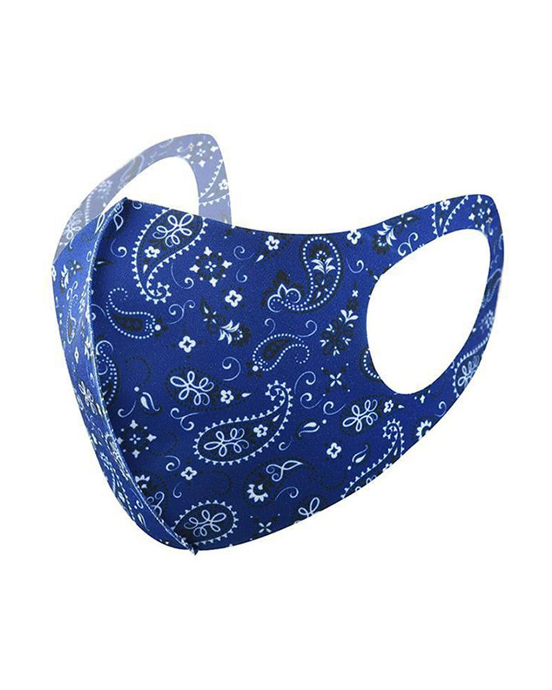Ice Silk Paisley Print Breathable Mouth Mask thumbnail