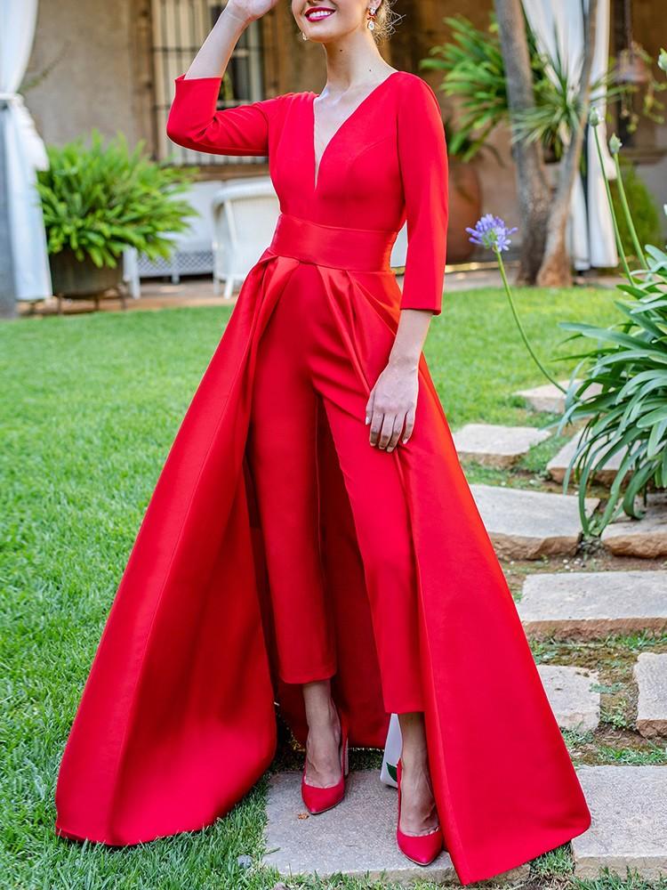 Dress Design Open Back Jumpsuit