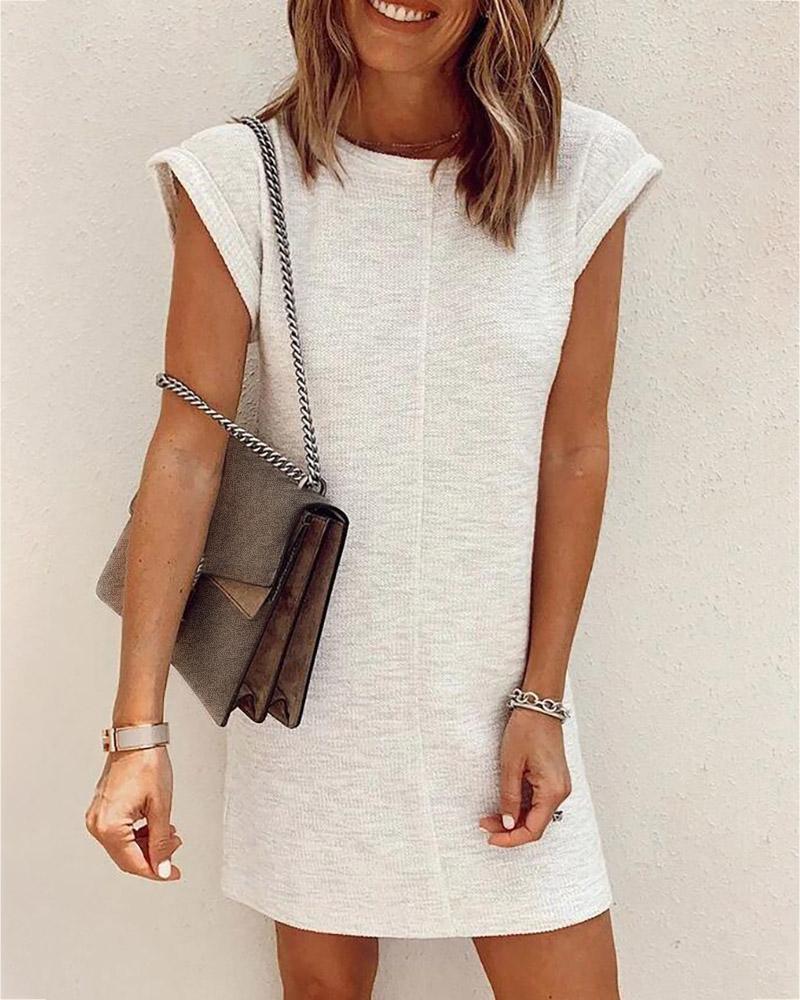 Rolled Hem Short Sleeve Casual Dress thumbnail