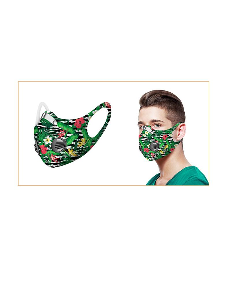 Printed Face Mask With Valves